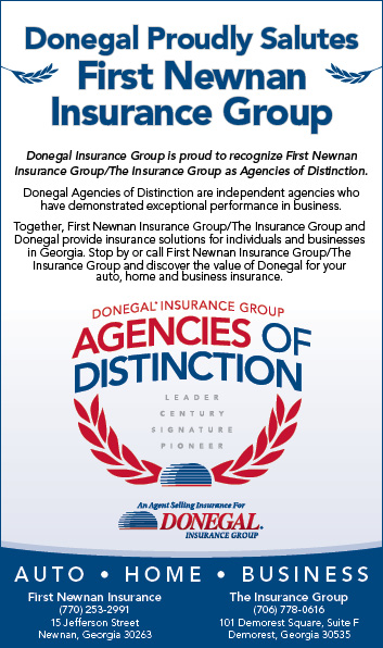 Donegal Insurance Gives First Newnan The Insurance Group Agency
